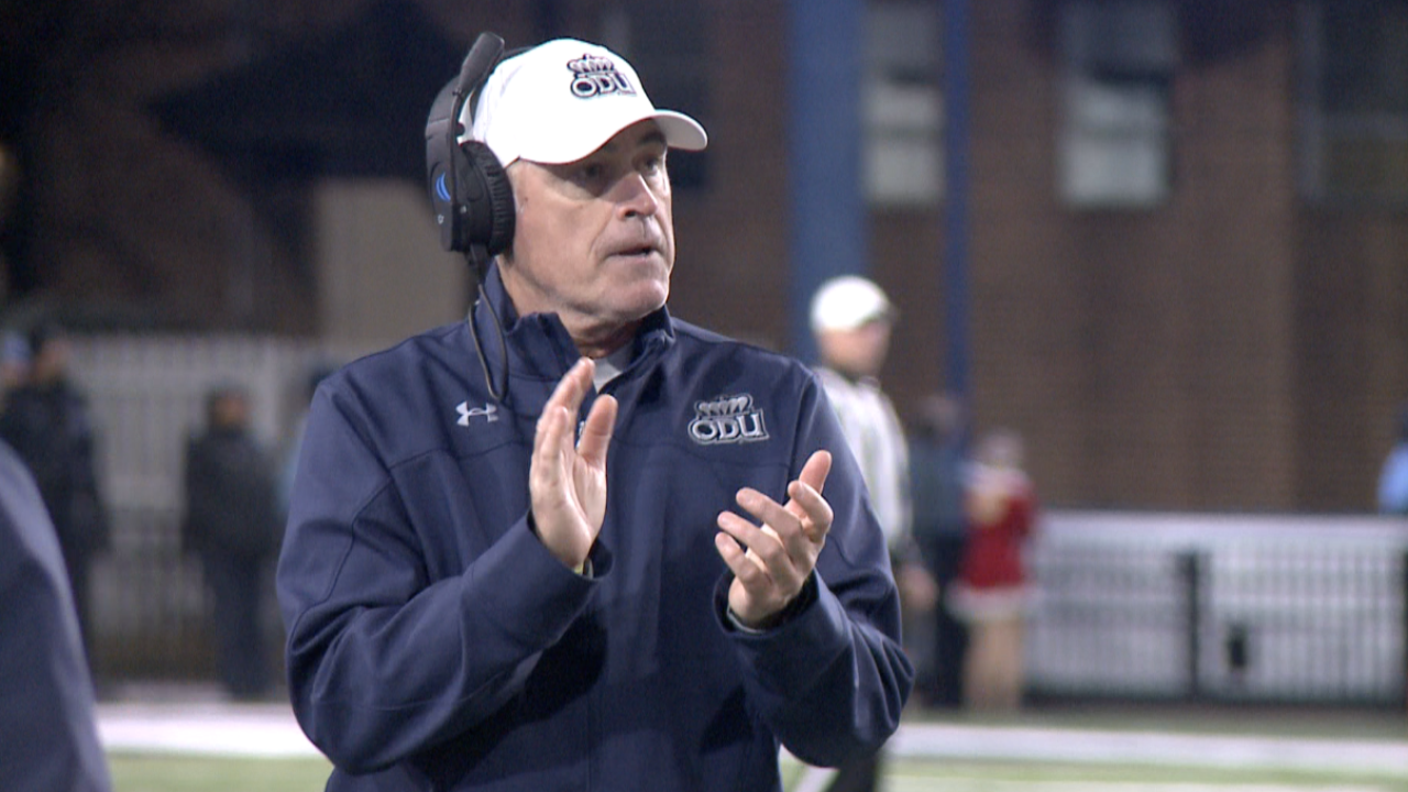 """""""This is my baby."""" ODU head football coach Bobby Wilder stumps to return after 1-and-11season"""