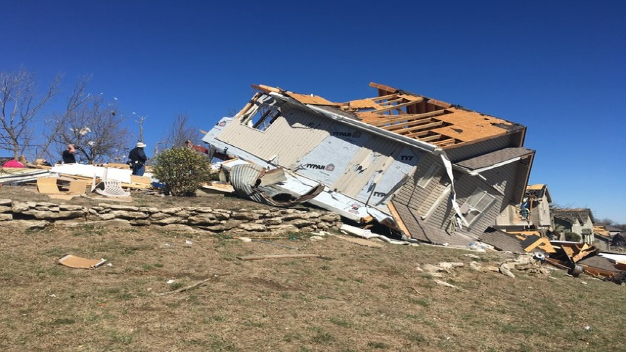 Oak Grove residents clean up tornado aftermath