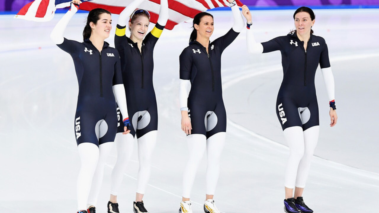 OLYMPICS: US women win bronze to end speedskating medal drought