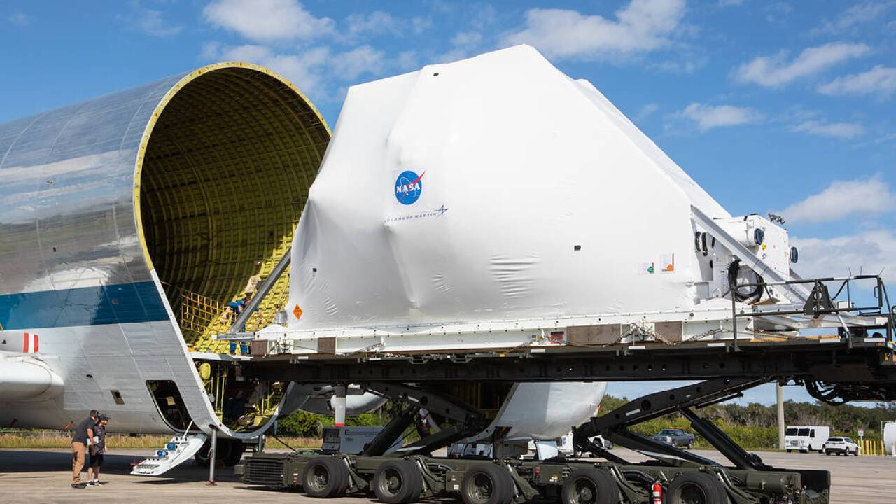 Orion spacecraft arrives in Ohio, making 6-hour, 43-mile journey from airport to NASA base Tuesday