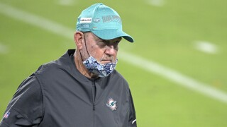 Miami Dolphins offensive coordinator Chan Gailey