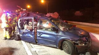 Crash scene on I-95