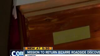 Mission to return bizarre roadside discovery