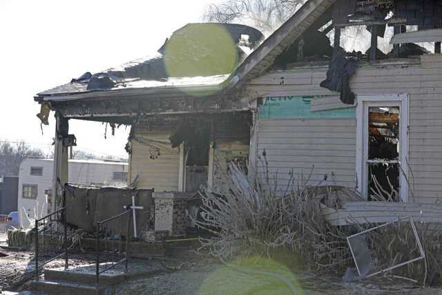 Photos: Clarksville Police Save Man From Burning Home