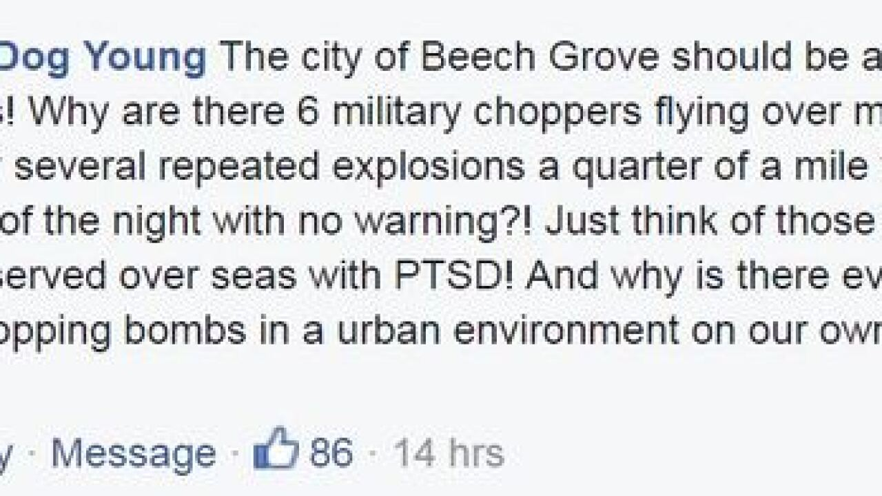YOU REACT: Military exercises in Beech Grove