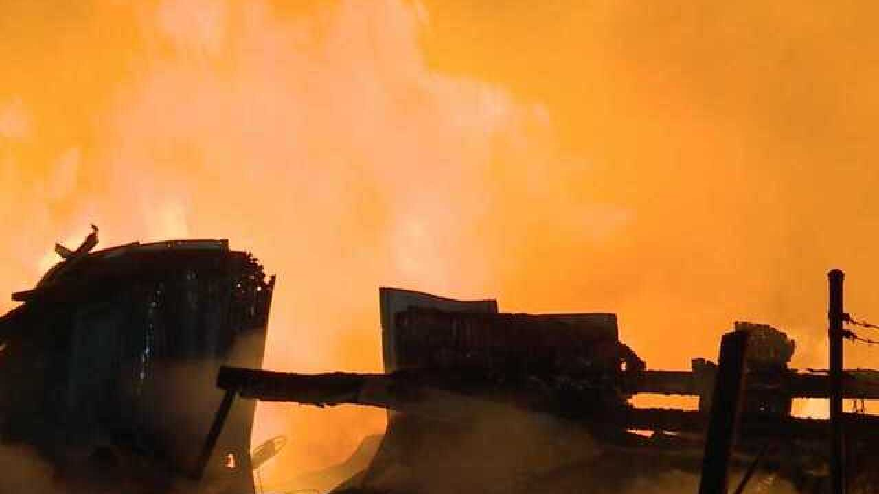 Large warehouse fire in Fort Myers