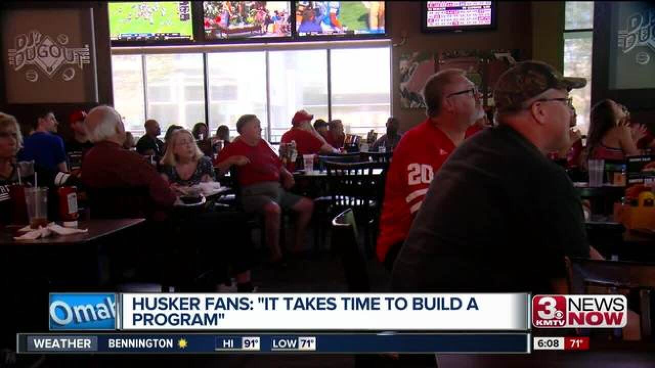 Husker fans show support after two loses