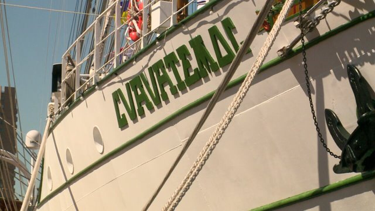 Mexican tall ship pays a visit toNorfolk