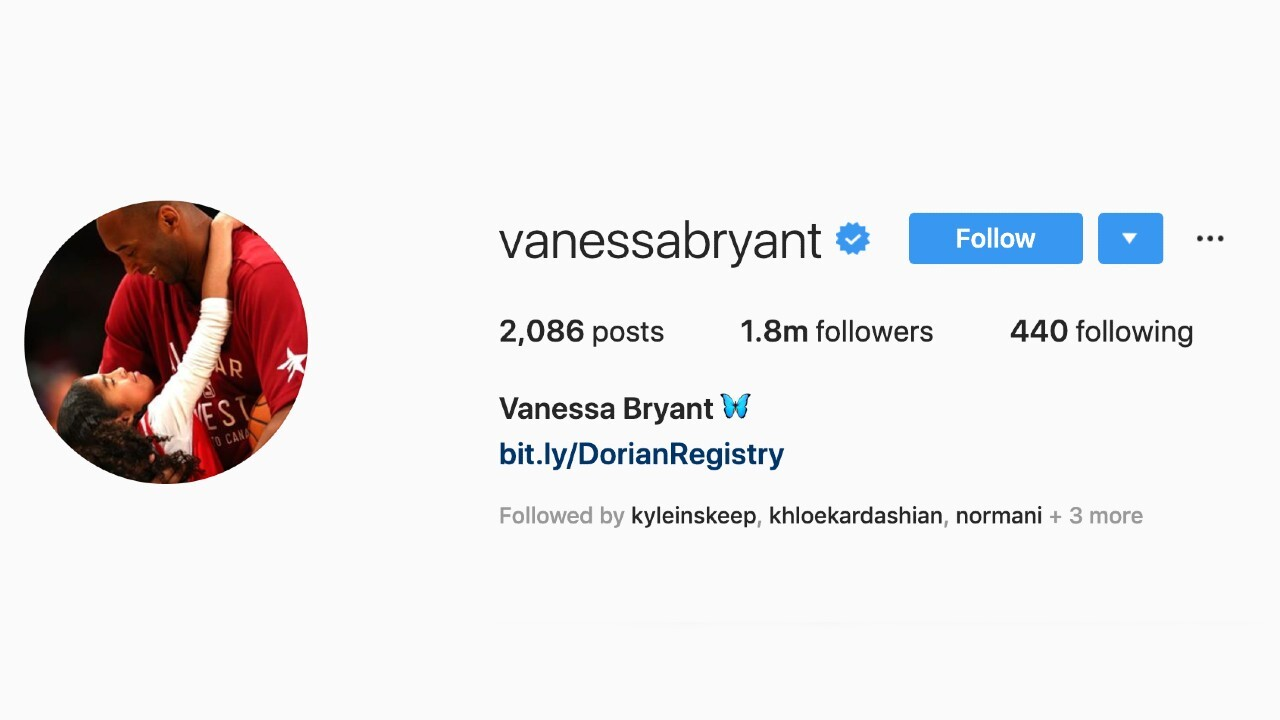 Vanessa Bryant changes profile photo to picture of Kobe, Gia