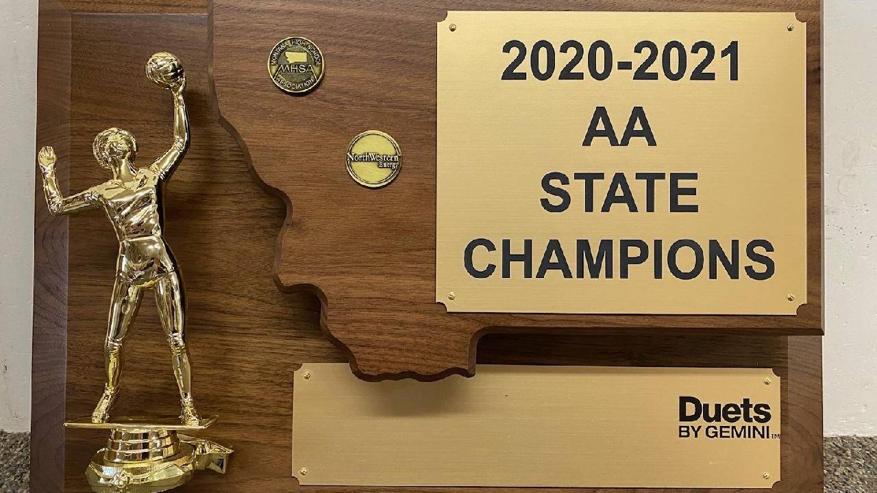 2020 State AA volleyball trophy