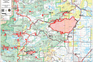 Calwood Fire and Lefthand Canyon Fire map_Oct 20 2020
