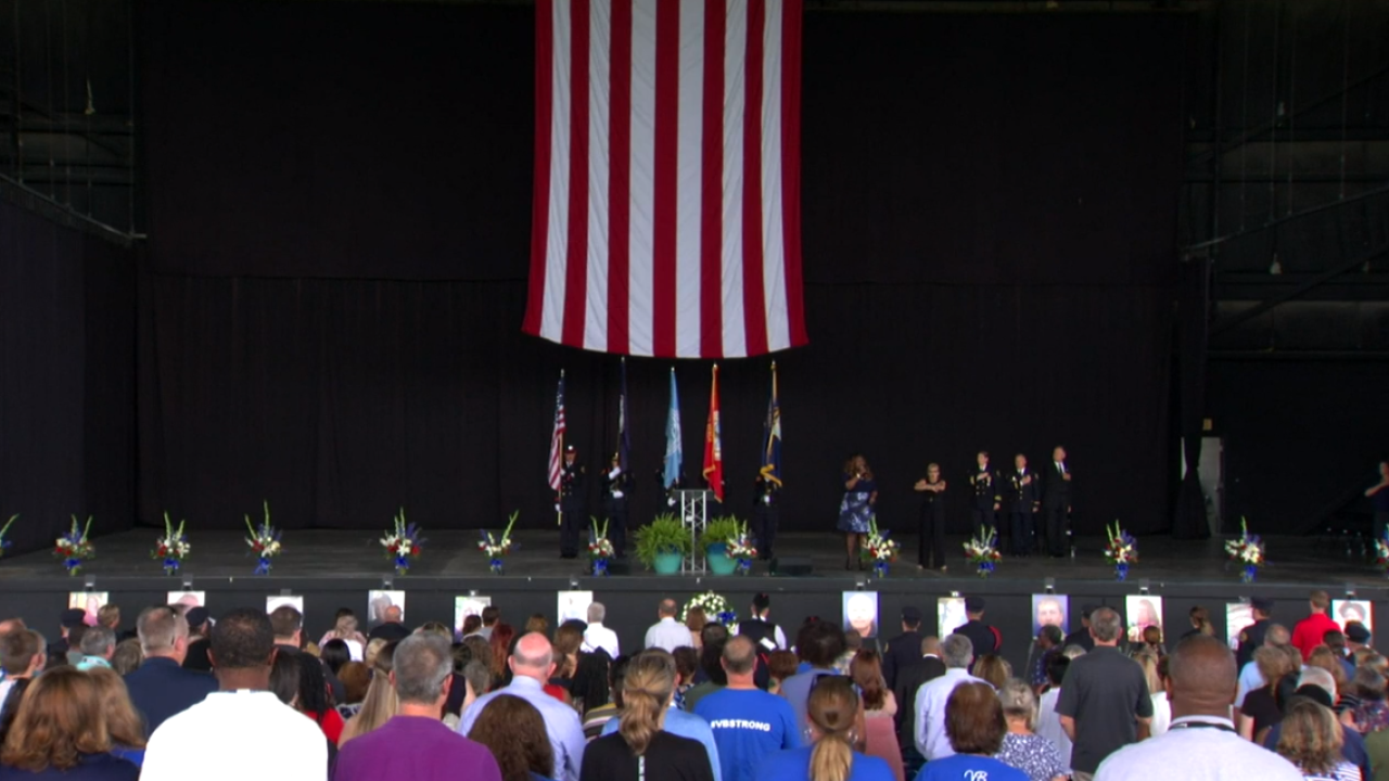 Watch: Virginia Beach holds memorial service for victims of massshooting