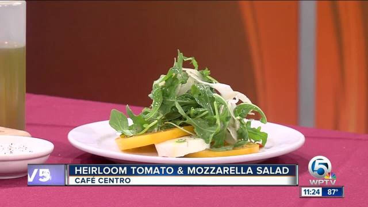 Recipe for heirloom tomato & mozzarella salad