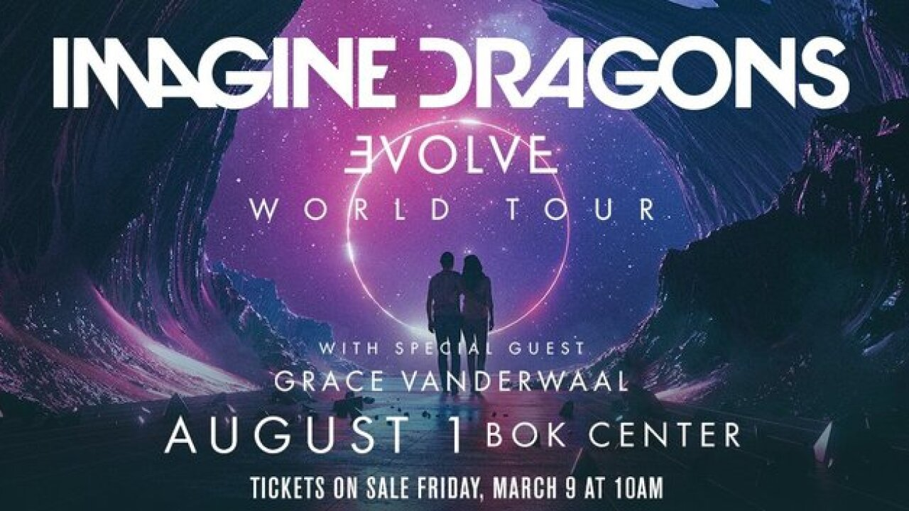 Imagine Dragons bringing 'Evolve Tour' to BOK Center as ninth show of '10 for 10' concert series
