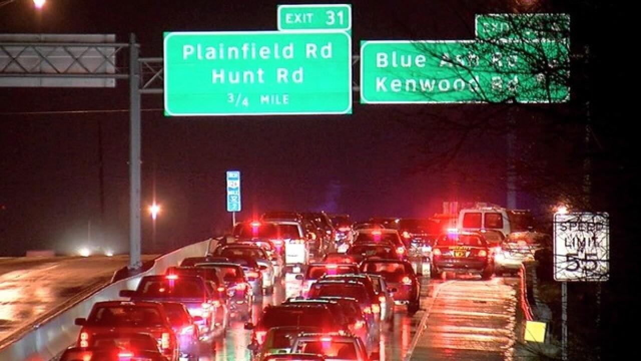 Freezing rain shuts down roads, causes crashes