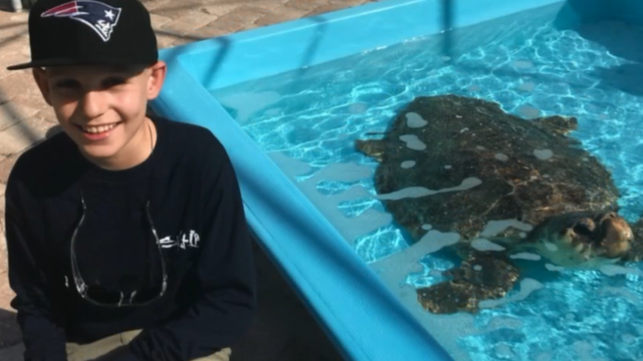 Recovery coming full circle for Jupiter boy and the sick turtle named after him