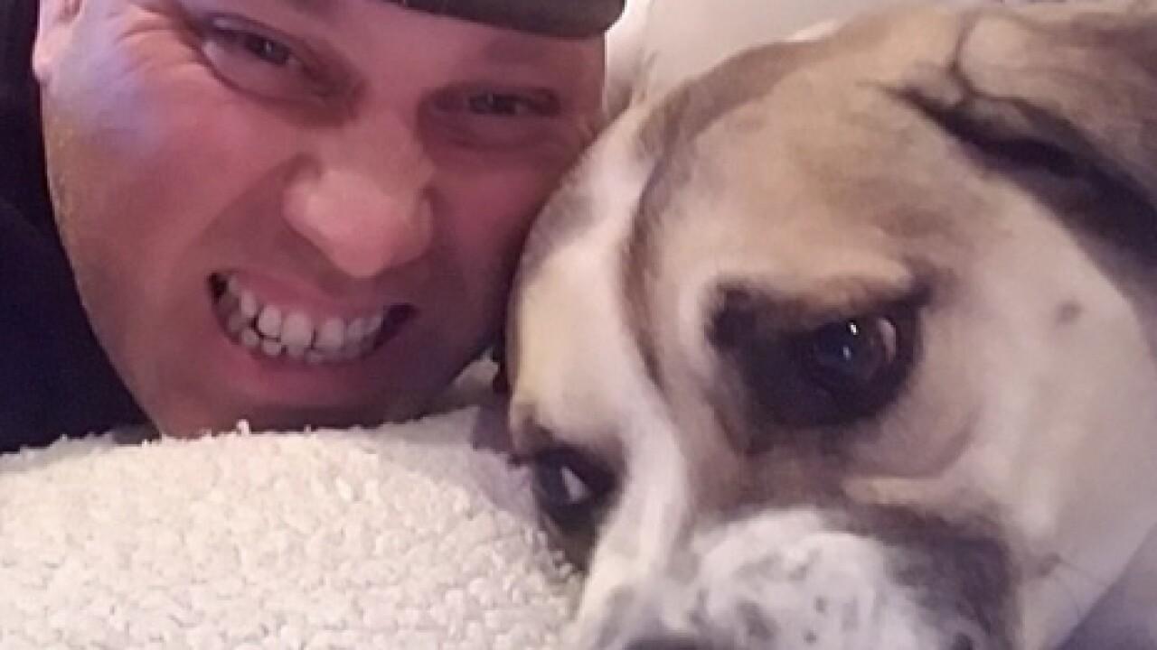 Brian Simonsen and his dog, Rascal
