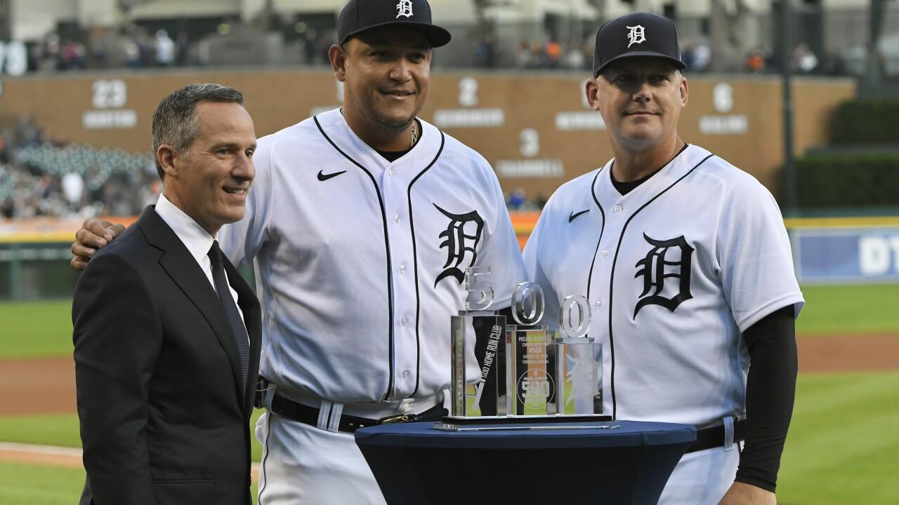 Christopher Ilitch, Miguel Cabrera, A.J. Hinch Tigers Baseball