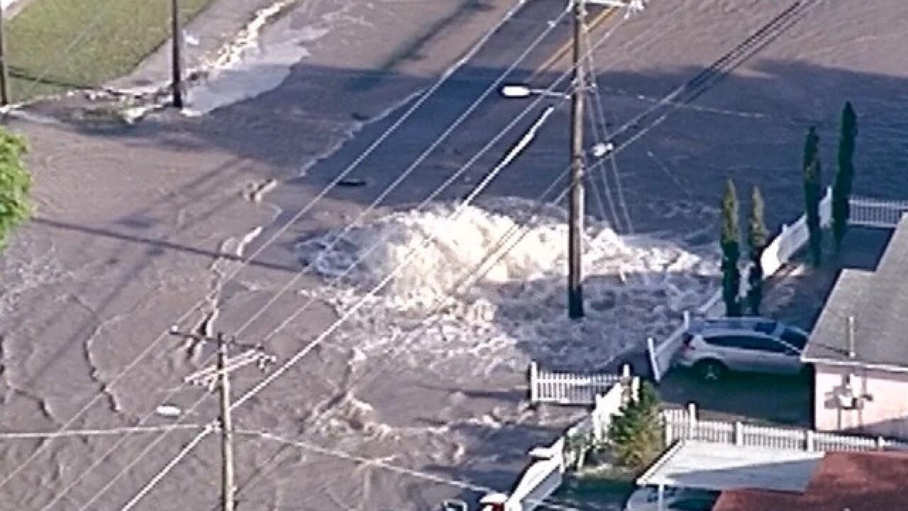 Massive water main break in Tampa