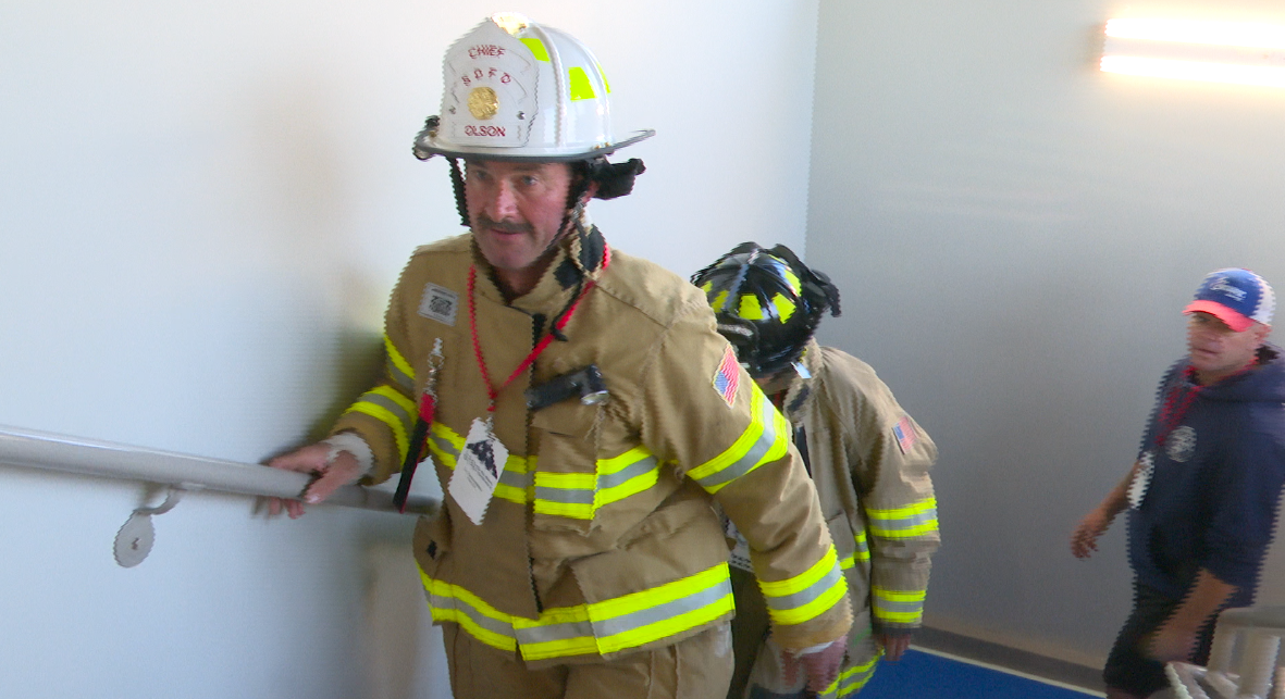 'We Will Never Forget': 9/11 memorial stair climb at Maritime Museum in Door County