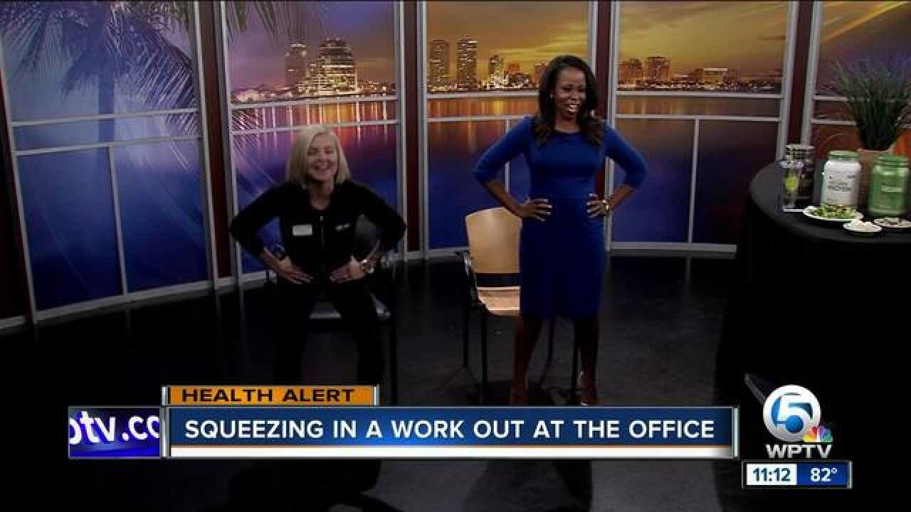 Squeeze in a quick workout at work