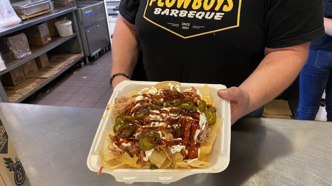 Plowboys BBQ nachos