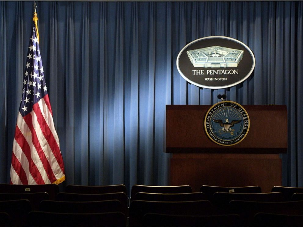 The briefing room at the Pentagon in Arlington, Va., Jan. 3, 2002.Alex Wong/Getty Images, FILE