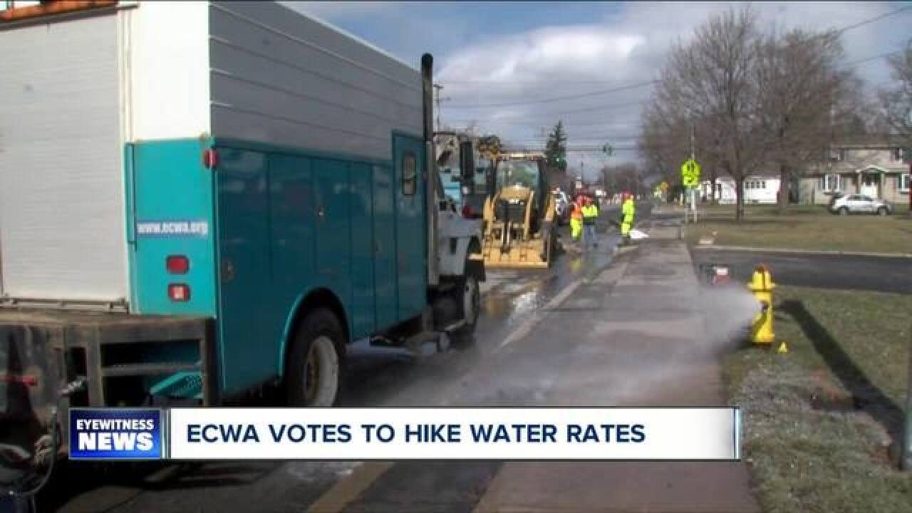 You'll pay more for water if you live in Erie Co