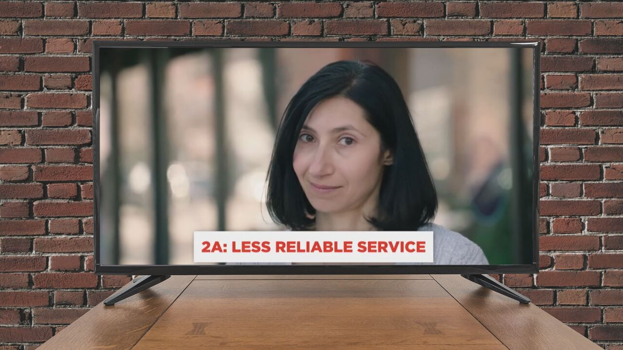 Ad claim: Less reliable service