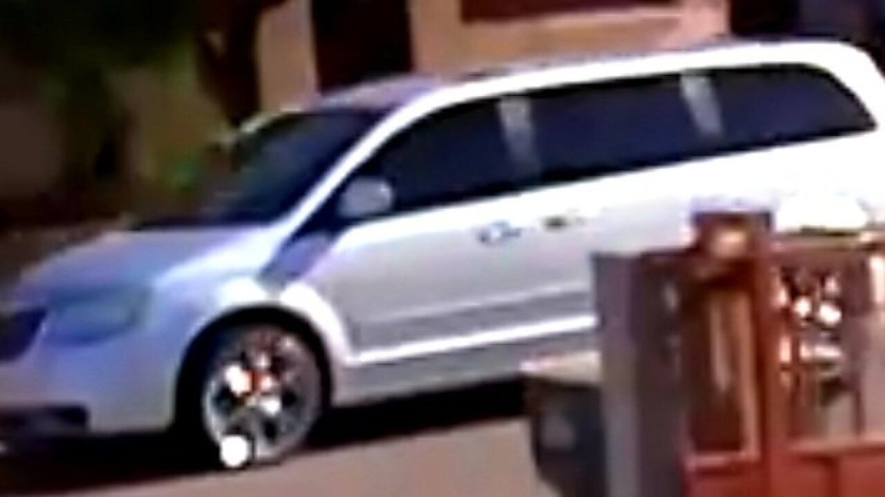 Tucson police are looking for a vehicle they say was involved in suspicious activities Friday.