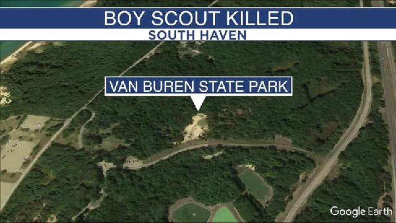 Boy Scout, 12, dies in sand dune collapse in Michigan