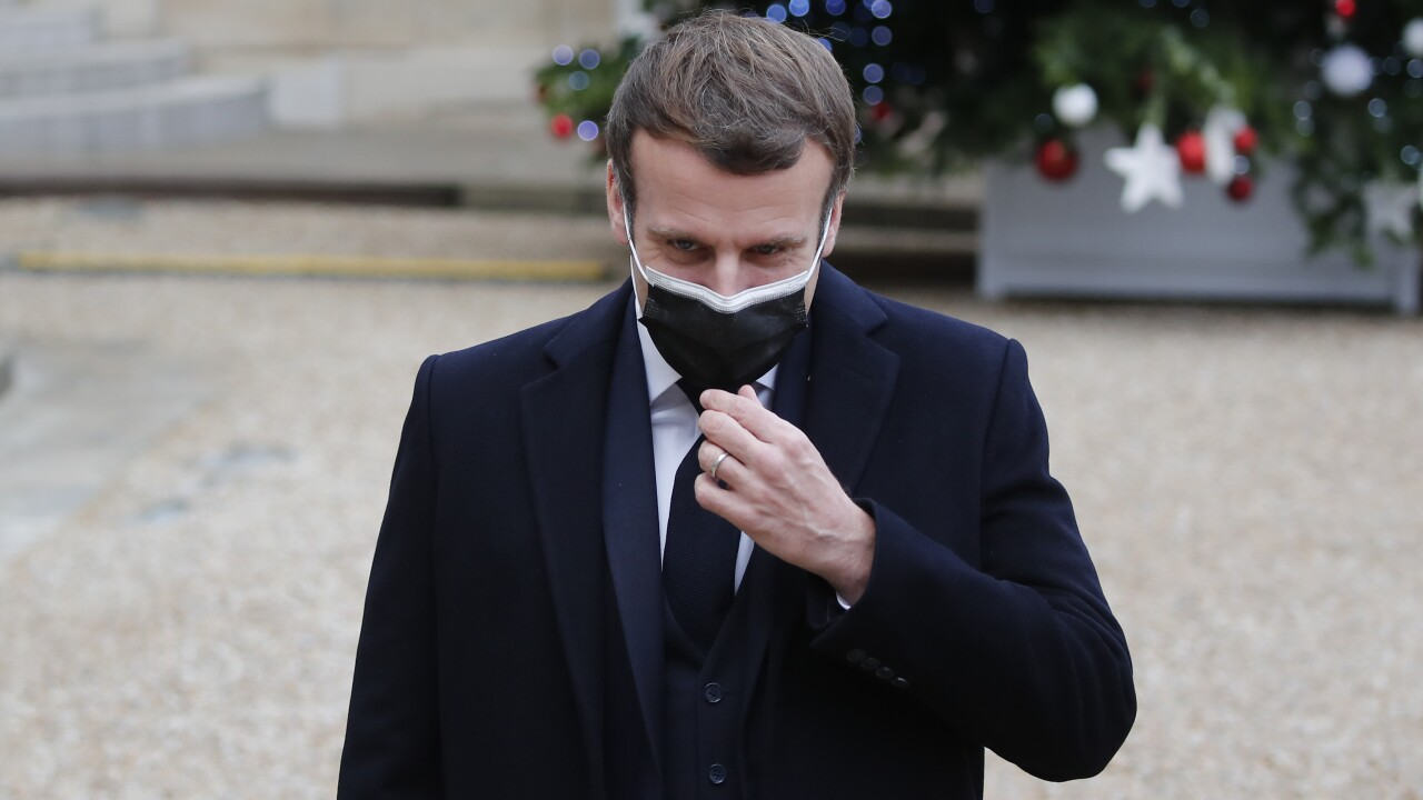 Virus Outbreak France Macron