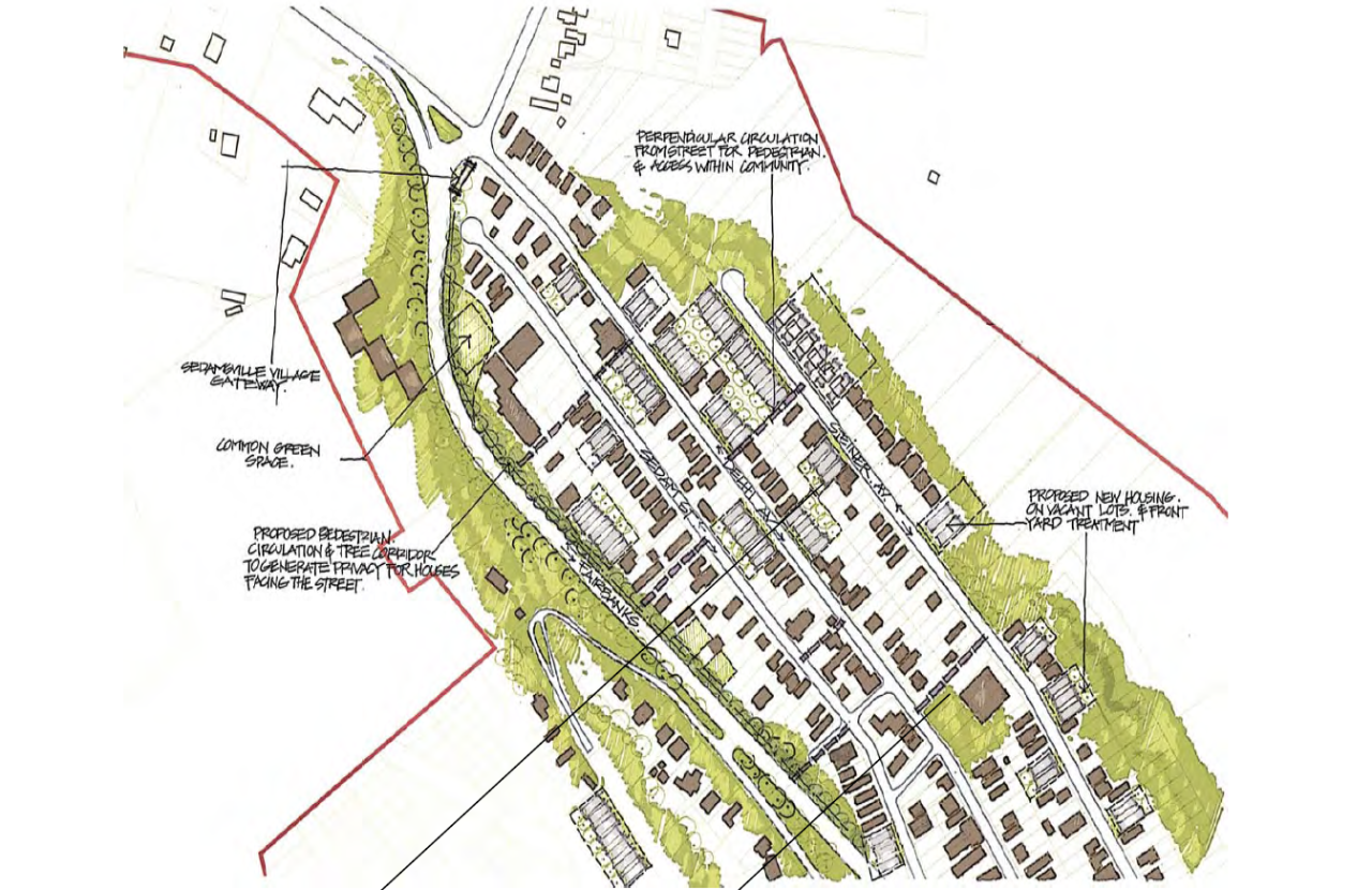 Village development proposal for Sedamsville