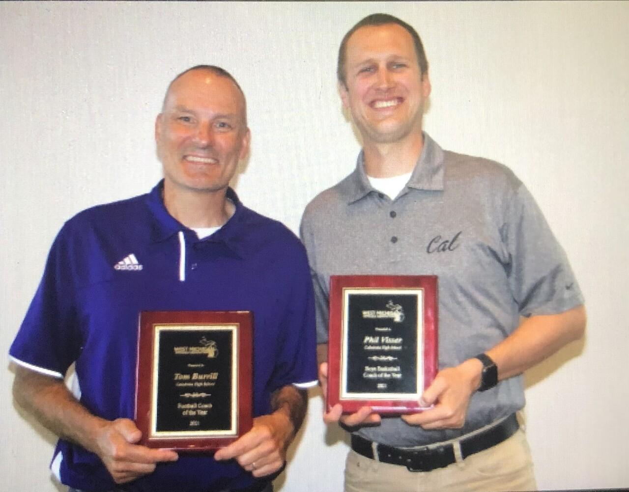 Caledonia coaches Tom Burrill and Phil Visser