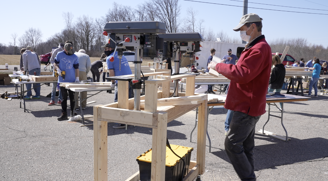 Sleep in Heavenly Peace record-breaking bed-building event