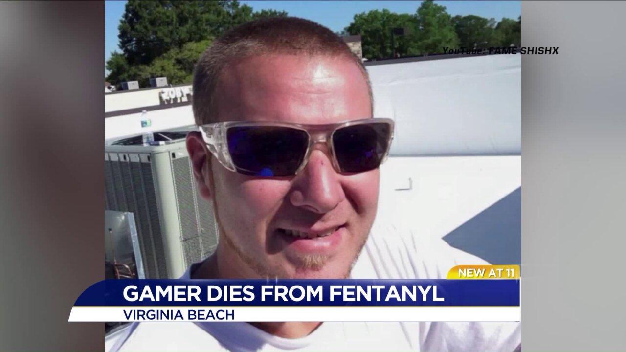 Virginia Beach gamer dies from fentanyl overdose during livestream video gamemarathon