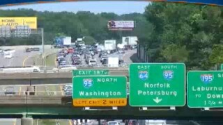 Multi-vehicle crashes snarl traffic on I-64 east in Henrico