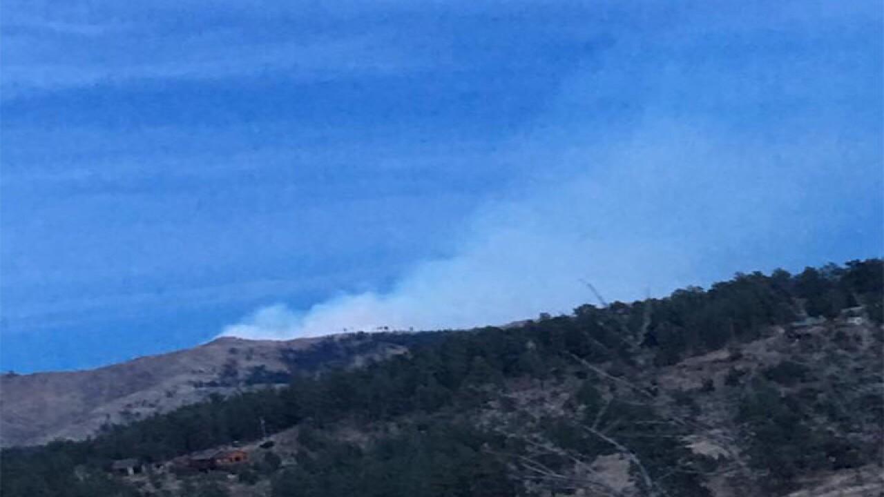 Wildfire burns near Horsetooth Reservoir
