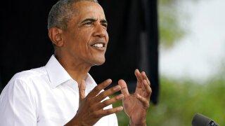 Barack Obama stumping for Democratic candidate Joe Biden