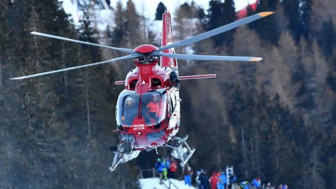 Skier injured in horrific high-speed crash