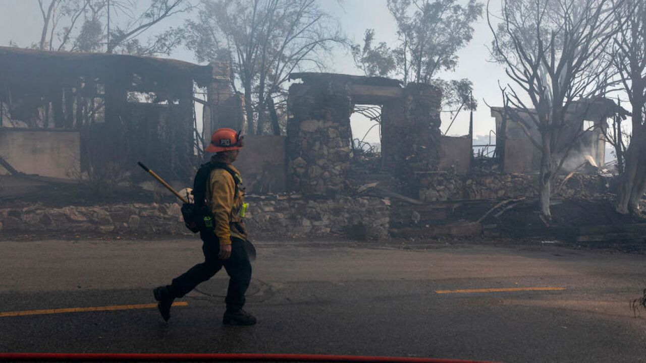 More than 25 million people remain under red flag warnings in California as wildfires burn