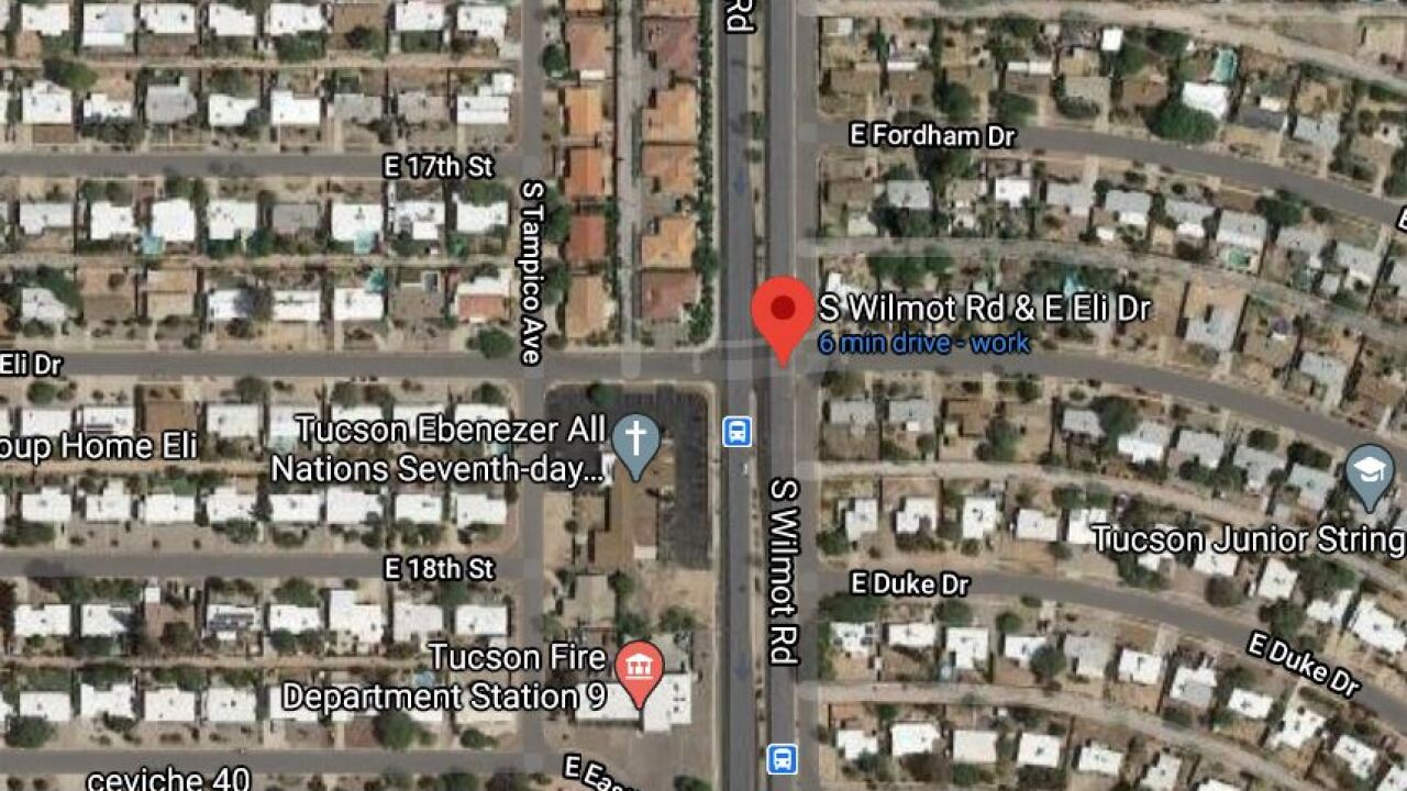 Tucson police say 30-year-old Randy S. Pence died at the intersection of South Wilmot Road and East Eli Drive. Photo via Google Maps.