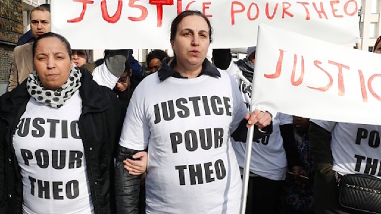 Protests erupt in Paris suburb after alleged police rape