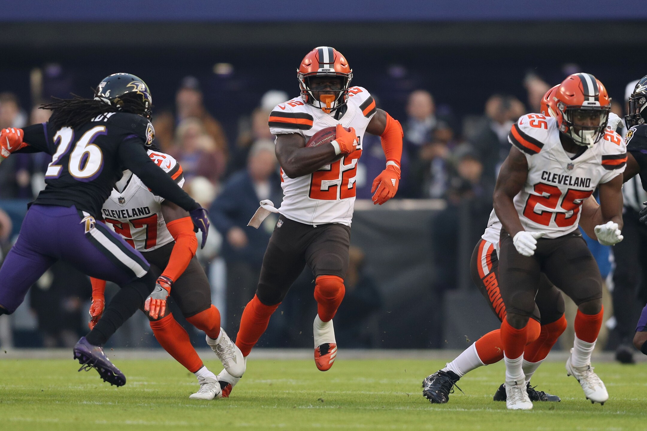photos browns fall to the ravens 26 24