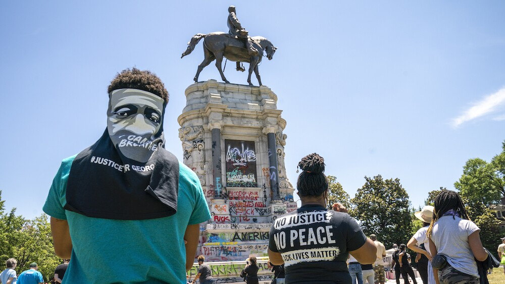 Robert E. Lee Monument Sunday, June 7, 2020