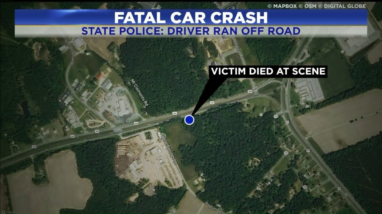 Driver killed in Nottoway County roll-over crash