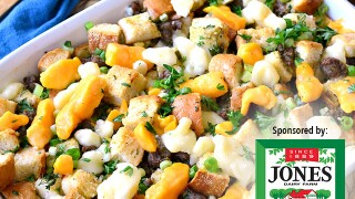 Recipe of the month: poutine stuffing with Jones sausage roll