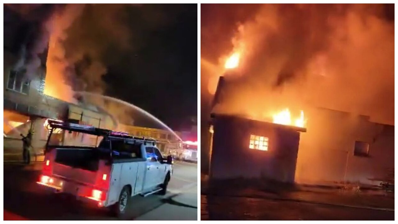 Old hotel goes up in flames in Cut Bank