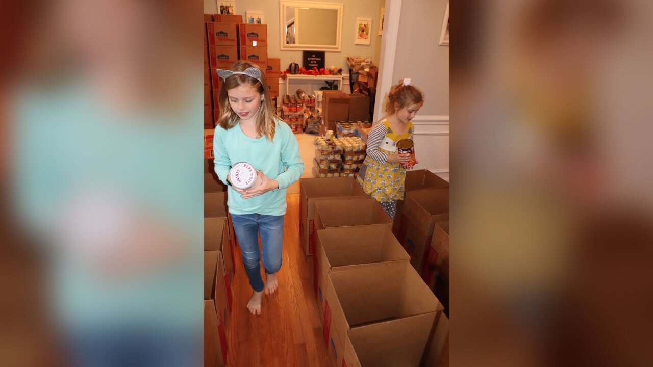 Sisters raise thousands to buy 108 Thanksgiving meals and turkeys for families in need