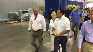 Photos: Senator Tim Kaine in Puerto Rico, surveys damage with other U.S.politicians